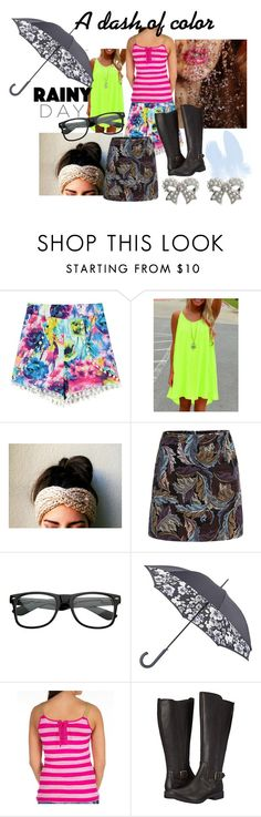 """Colorful rain wear"" by freakfash ❤ liked on Polyvore featuring Fulton, Sinful, Timberland, M&Co and rainydaystyle"