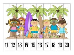 Here is a great activity for students to practice ordering numbers! Numbers Kindergarten, Preschool Math, Math Classroom, Fun Math, Math Activities, Teaching Kindergarten, Number Puzzles, Maths Puzzles, Teen Numbers