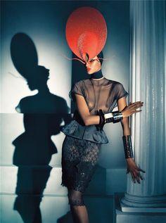 Yasmin Warsame by Steven Meisel