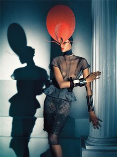 Elegance As Form // Vogue Italia, July 2008// Photographer: Steven Meisel  // Model: Yasmin Warsame