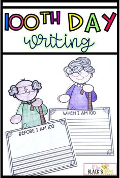 Are you looking for ideas to celebrate the 100th Day of School?  Your students will love this fun craft and writing project!  This activity is super simple and fast to prep.  Children will have fun coloring an old man or old lady and then writing about something he or she would like to do before they are 100 or what it would be like to be 100.  This writing activity makes an adorable bulletin board, classroom door or hallway display.  #kindergarten #firstgrade First Grade Classroom, Primary Classroom, Classroom Door, Classroom Ideas, Parent Teacher Conference Forms, Parent Teacher Conferences, First Grade Crafts, Hallway Displays, Fall Door Decorations