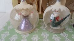Boxed Christmas Vintage Ornaments Glass Balls Decorations Inside from myartdecoretro-tiques on Ruby Lane