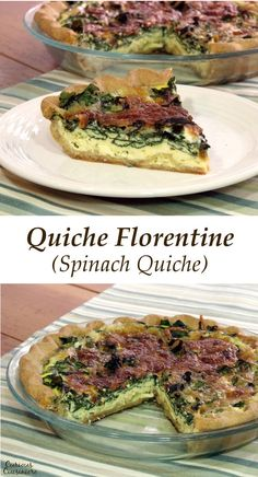 A French dish with Italian inspiration, Quiche Florentine is an elegant, yet easy, spring-inspired dish.  www.CuriousCuisiniere.com