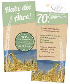 Einladung zum Geburtstag für alle Landwirte, Müller, Naturburschen und Mädels!