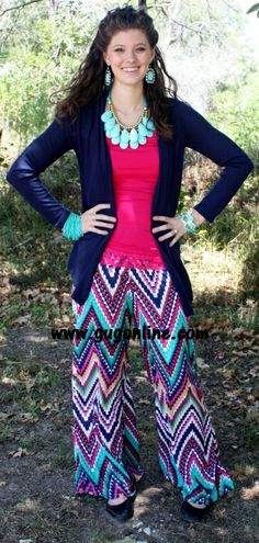 patterned pants.  Giddy up Glamour