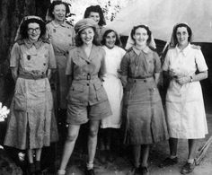 This is social.Dame Vera Lynn with nurses in the Far East during World War Two