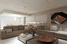 Decor Salteado - Blog de Decoração e Arquitetura : Apartamento com decoração neutra e peças de design lindo!