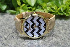 Light Brown leather bracelet watch women's wrist by BraceletTribal, $5.99 Fashion handmade leather watch