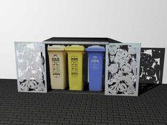 Verkleidung für Mülleimer - Einhausung für Müllboxen und Mülltonnen Magazine Rack, Storage, Diy, Design, Decor, Home, Waste Container, Privacy Screens, Front Courtyard