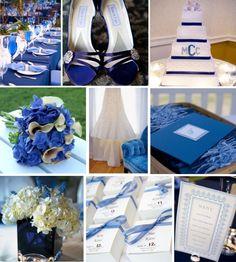 """Jolis mariages » palette de couleurs """" bleu roi"""