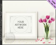 Styled White Table with Pink Tulips & Gold by TanyDiDesignStudio