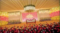 Picture from Marriedly Photo Gallery on WedMeGood. Browse more such photos & get inspiration for your wedding Engagement Stage Decoration, Wedding Hall Decorations, Desi Wedding Decor, Romantic Wedding Decor, Garland Wedding, Balloon Decorations, Reception Stage Decor, Wedding Stage Design, Wedding Reception Backdrop