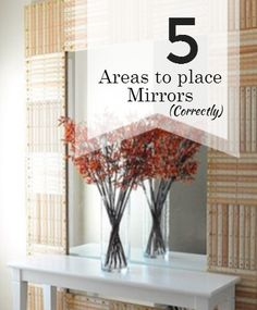 feng shui mirror placement . Top 5 places and areas to place mirrors correctly