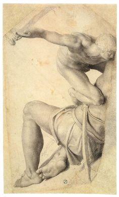 David and Goliath, 1550-56, Uffizi, Florence  Daniele da Volterra