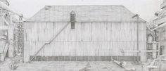 Robbie Cornelissen's Depictions of Inner Spaces (socks-studio) Space Socks, Social Housing, Amazing Pics, Studio, Places, Inspiration, Graphic Art, Architecture, Simple Lines
