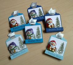 Kleiner Gruß - New Ideas Fall Craft Fairs, Christmas Craft Fair, Christmas Drawing, Craft Show Ideas, Stampin Up Christmas, Christmas Tag, Christmas Favors, Diy And Crafts, Crafts For Kids