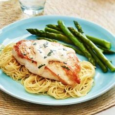 Dressed Chicken Breasts with Angel Hair Pasta Recipe ½ cup butter package ounces) pasta (fresh, angel hair pasta cooked, cup Hidden Baked Ranch Chicken, Ranch Chicken Recipes, Chicken Recipes Video, Crack Chicken, Buffalo Chicken, Hasselback Chicken, Chicken Chili, Chicken Bacon, Pasta Recipes For Two
