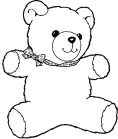Teddy Bear Coloring Pages For Your Kids Cartoon