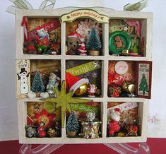 christmas shadow boxes - Google Search