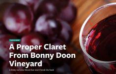 A Proper Claret From Bonny Doon Vineyards - Good Times Santa Cruz Red Blend Wine, Red Wine, Wine Reviews, Good Times, Vineyard, Challenge, Gold, Santa Cruz, Vine Yard