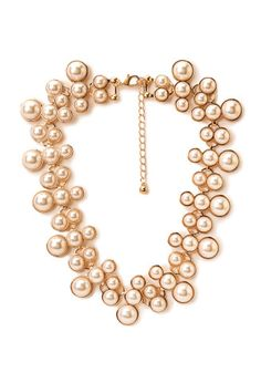 Pearlescent Cluster Bib Necklace