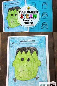 Carly and Adam want to help you get started with STEAM with this FREE STEAM Challenge. In this activity, students draw a picture of a monster using a directed drawing. They integrate technology by using the Chatterpix App to animate the monster. A writing extension is also included to write a story about their monster. #steam #stem #art #kids #classroom #chatterpix #pixar #halloween #school #teacher #teach #lessonplans #activities #challenges #stemlearning