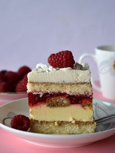 kostka malinowo-advocatowa Sweets Cake, Cookie Desserts, No Bake Desserts, Delicious Desserts, Cupcake Cakes, Baking Recipes, Cake Recipes, Different Cakes, Sweet Pastries