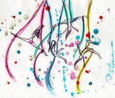 Flying silks , watercolor drawing. Aerial Acrobatics, Aerial Dance, Aerial Hoop, Aerial Arts, Aerial Silks, Pole Dance, Dance Art, Silk Draw, Aerial Gymnastics