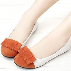 Shoes For Women Flat Heel Round Toe Flats Casual Blue White Navy Orange