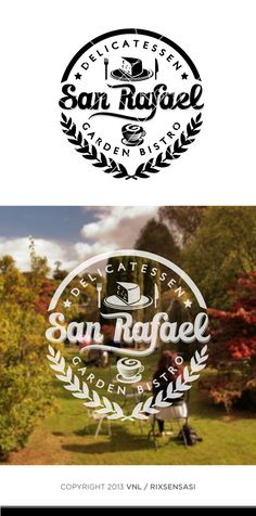 Vintage Logo Design For Cafe, Bistro, Bar and Restaurant