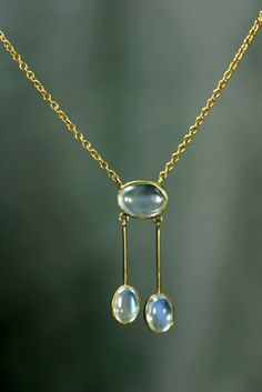 Antique Gold Moonstone Necklace