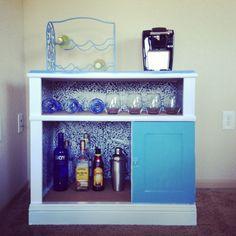 DIY mini bar using a shelf from ikea. | Condo | Pinterest | Shelves ...