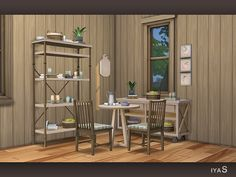 Sims 4 CC's - The Best: Sunny Morning Dining Set by Soloriya