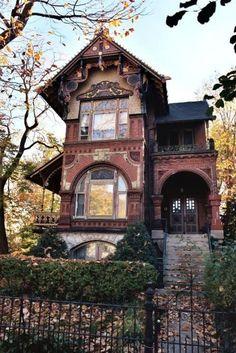 Victorian Brick House Architecture Design And Ideas Victorian Architecture, Beautiful Architecture, Beautiful Buildings, Beautiful Homes, Architecture Design, Beautiful Places, Victorian Interiors, Victorian Art, Classical Architecture