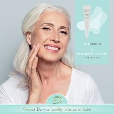 Use the effective patches for intense results against wrinkles on your face areas Hyaluronic Acid, Healthy Skin, Serum, Patches, Skin Care, Eyes, Face, Skin Treatments, Asian Skincare