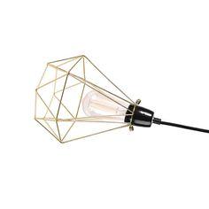 amara.com | Filament Style | Diamond Table Lamp | Gold | Trend 2015 | Inspirational Design | Loft Living | Warehouse Home Design Magazine
