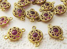 Vintage Filigree Brass wrapped Purple by alyssabethsvintage, $3.15