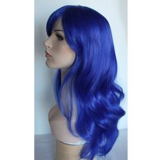 Ready to ship overnight - Long wavy blue wig hair synthetic wig -high quality wig by wigglywigs. Explore more products on http://wigglywigs.etsy.com