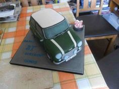 21st birthday Mini Cooper cake.