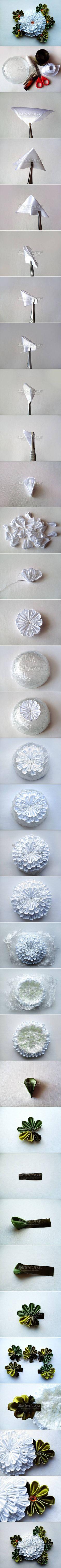 DIY White Chrysanthemum Flower