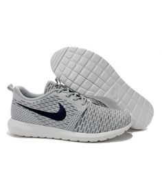 huge discount c0654 f5d9a Nike Roshe Run Flyknit Mens Running Shoes Gray