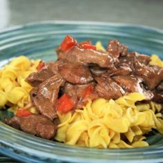 Beef Stroganoff, Low Sodium recipe: Sirloin is called for, but I used left over pot roast. Very creamy, great tasting, feel good food. Low Salt Recipes, Low Sodium Recipes, Cooking Recipes, Sodium Foods, Low Sodium Meals, Low Sodium Diet, No Salt Meals, Cholesterol Diet, Meal Recipes