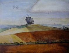 Paul Nash, Wittenham Clumps. A British surrealist painter and war artist, book-illustrator, writer and designer of applied art. He was the older brother of the artist John Nash. Wikipedia Born: May 11, 1889, London Died: July 11, 1946 Period: Surrealism