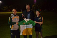 CurrencyFair CEO Brett Meyers for taking time out from his trip home to present the new ladies team jerseys.