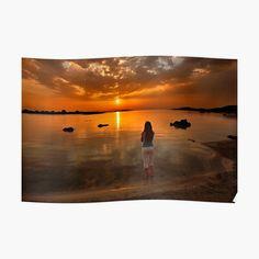 'Keep on dreaming on' Poster by Hercules Milas Crete Island, Most Beautiful Beaches, Mediterranean Sea, Beach Look, Sunrises, Beautiful Islands, Hercules, Homeland, Summer Looks