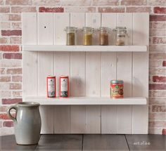Pretty spice rack in Scandinavian style, pallet rack, pallet furniture / … - Home Page Mirror Room Divider, Room Divider Shelves, Wine Rack Shelf, Pallet Wine, Scandinavian Style, Home Hardware, Home Logo, Wooden Pallets, Pallet Furniture