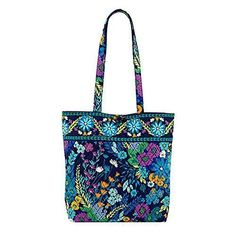 Vera Bradley Tote with Solid Color Interior (Updated Version) in Midnight Blues with Solid Navy Interior  Here is a prime example of cool gifts under 50 dollars.  You will these gifts to be super trendy, popular and affordable.    These truly are the best gifts under 50 dollars for her!  best gifts under 50 dollars  great gifts under 50 dollars  cool gifts under 50 dollars  unique gifts under 50 dollars  women gifts under 50 dollars  women gifts under 50  top gifts under 50 dollars