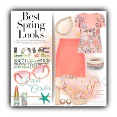 """""""Spring desires"""" by milenasas ❤ liked on Polyvore featuring H&M, Vince, tarte, Carolee, River Island, Sophia Webster, Accessorize, Oasis, Amour de Pearl and Emilio Pucci"""