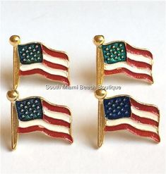 USA American Flag Pin Brooch Enamel Patriotic July 4 Gold Plated #madeinamerica  in America #Flagpin  #veterans #veteransday #july4