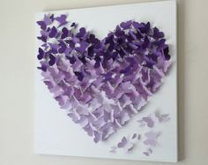 Items similar to Butterfly Wall Art-Ombre Collection-Wall Art- 3d art collage on Etsy